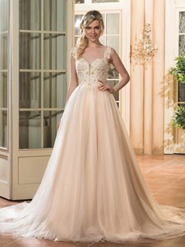 Ericdress Beautiful V Neck Beaded A Line Color Wedding Dress