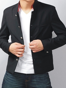 Ericdress Casual Stand Collar Men's Blazer