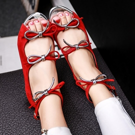 Ericdress Pretty Bowtie Flat Sandals