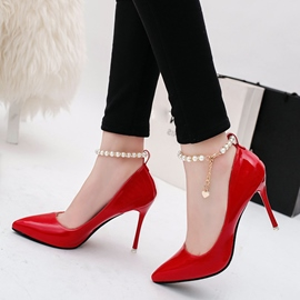 Ericdress Pearl Ankle Strap Point Toe Pumps