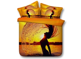 Ericdress Bathing In Golden Sunset Print 3D Bedding Sets