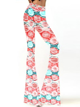 Ericdress Mori Girl Print Flared Pants