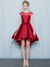 Ericdress A-Line Scoop Cap Sleeves Appliques Beading Asymmetry Homecoming Dress