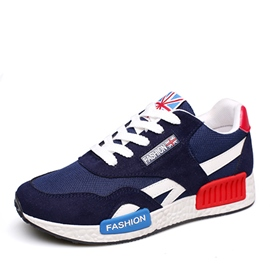Ericdress Round Toe Lace-Up Color Block Men's Athletic Shoes