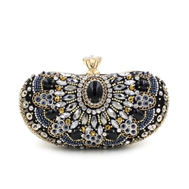 Ericdress Diamante Handmade Beaded Evening Clutch