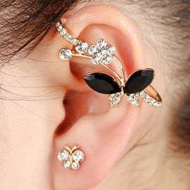 Ericdress Chic Butterfly Diamante Ear Cuff