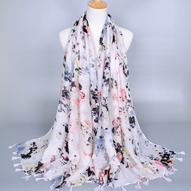 Ericdress Oil Painting Print Voile Scarf