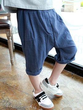 Ericdress Solid Color Boys Pants