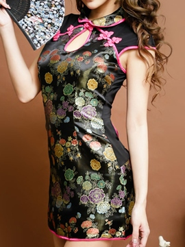 Ericdress Nightwear Floral Hollow Sexy Chemise
