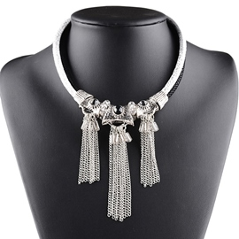Ericdress Chain Tassels Short Necklace