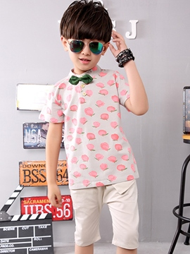 Ericdress Print Color Block Boys Outfit