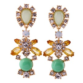 Ericdress Alloy Gemstones Earrings