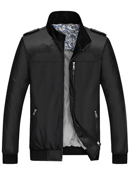 Ericdress Zip Stand Collar Quality Men's Jacket