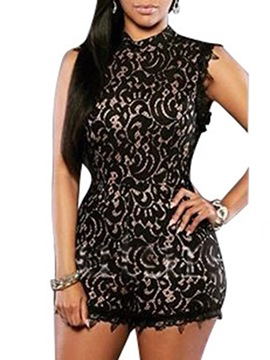 Ericdress Lace Backless Rompers