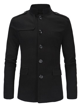Ericdress Plain Stand Collar Casual Men's Blazer