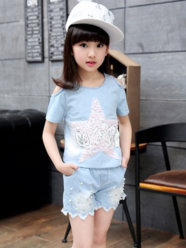 Ericdress Sequins Short SleeveGirls Outfits