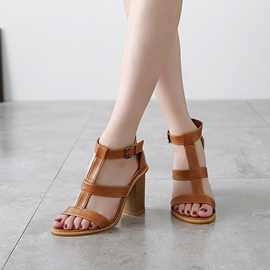 Ericdress Cool Solid Color Chunky Sandals