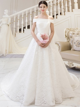Ericdress Beautiful Off The Shulder Lace Wedding Dress