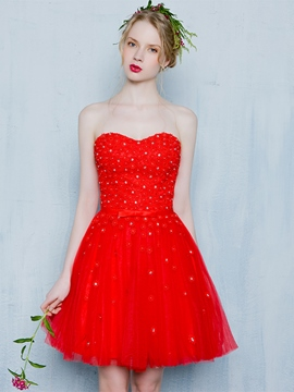 Ericdress Sweetheart A-Line Beading Short Homecoming Dress