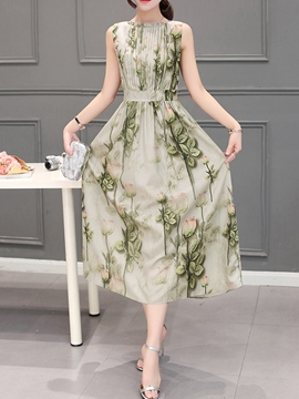 Ericdress Summer Sleeveless Ankle-Length Maxi Dress