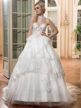 Ericdress charmante Sweetheart Perlen Ballkleid Brautkleid