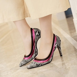 Ericdress Snake Print OL Point Toe Pumps