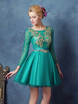 Ericdress Long Sleeves Kugel Ball Kleid Applikationen Schärpen Homecoming Kleid