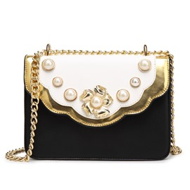Ericdress Personality Pearl Decorated Crossbody Bag