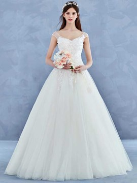 Ericdress Beautiful V Neck A Line Wedding Dress