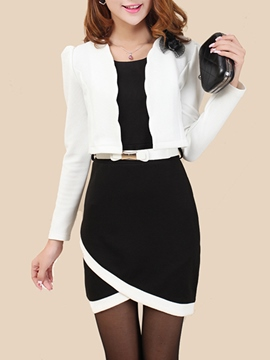 Ericdress Elegant Asymmetric Dress Suit