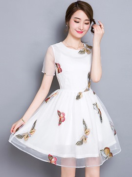 Ericdress Summer Organza Ball Gown Casual Dress