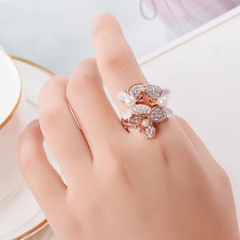 Ericdress Diamond Crystal Flower Ring