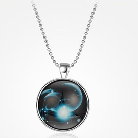 Ericdress Constellation Luminous Pendant Necklace