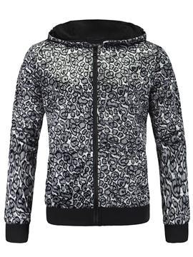 Ericdress Leopard Zip Casual Men's Jacket