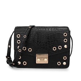 Ericdress Hollow Croco-Embossed Crossbody Bag