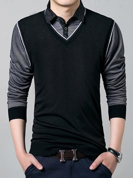 Ericdress Double-Layer High Quality and Style Vogue Slim Men 's Shirt