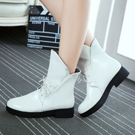 Ericdress PU Lace up Ankle Boots