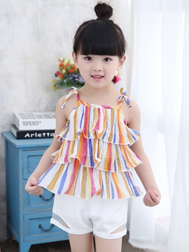 Ericdress Color Block Girls Outfit