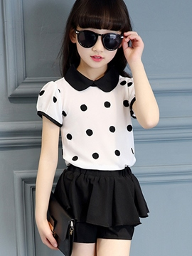 Ericdress Polka Dots Girls Outfit