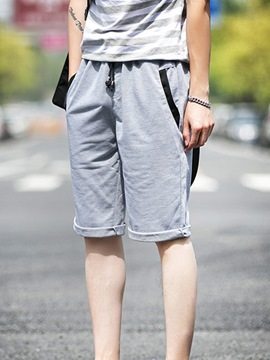 Ericdress Casual Lace-Up Men's Shorts