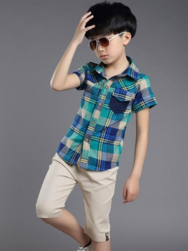 Ericdress Plaid Boys Outfit