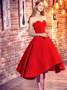 Ericdress A-Line Sweetheart Asymmetry Prom Dress