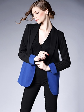 Ericdress Loose Color Block Blazer