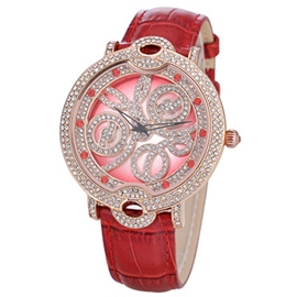 Ericdress Shiny Diamante Quartz Watch