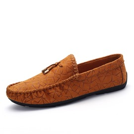 Ericdress Embossed PU Slip-On Men's Loafers
