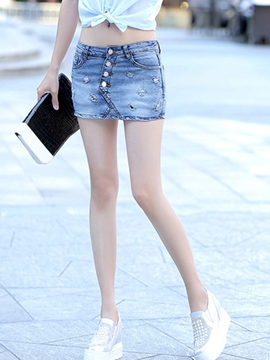 Ericdress Unique Denim Shorts