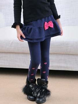 Ericdress Pleated Girls Leggings