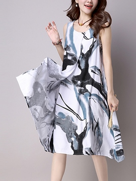 Ericdress Summer Ethic Print Casual Dress