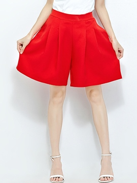 Ericdress Solid Color Loose Shorts