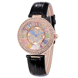 Ericdress Creative Diamante Lucky Clover Watch